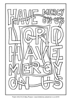 23 - Fourth Sunday Advent - Psalms 123 [131] - Downloadable / Printable Colouring Sheet